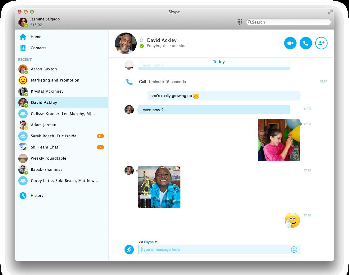Rozhranie Skype