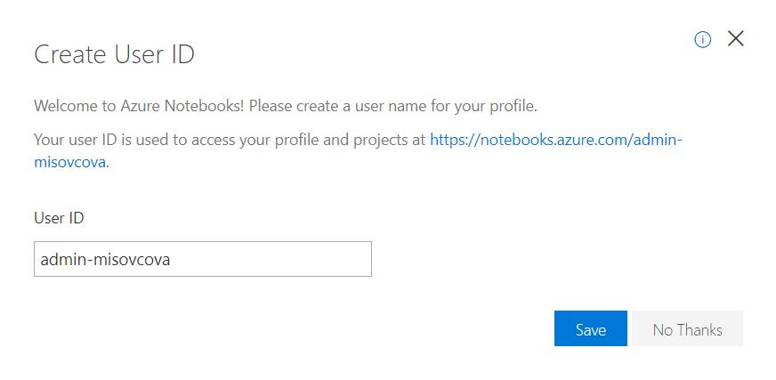 Vytvorenie User ID