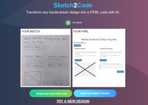 Ukázanie, čo Sketch 2 Code dokáže